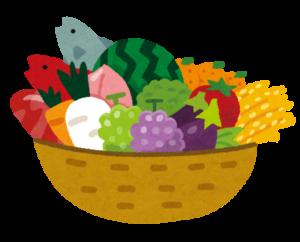かご盛り野菜イラスト